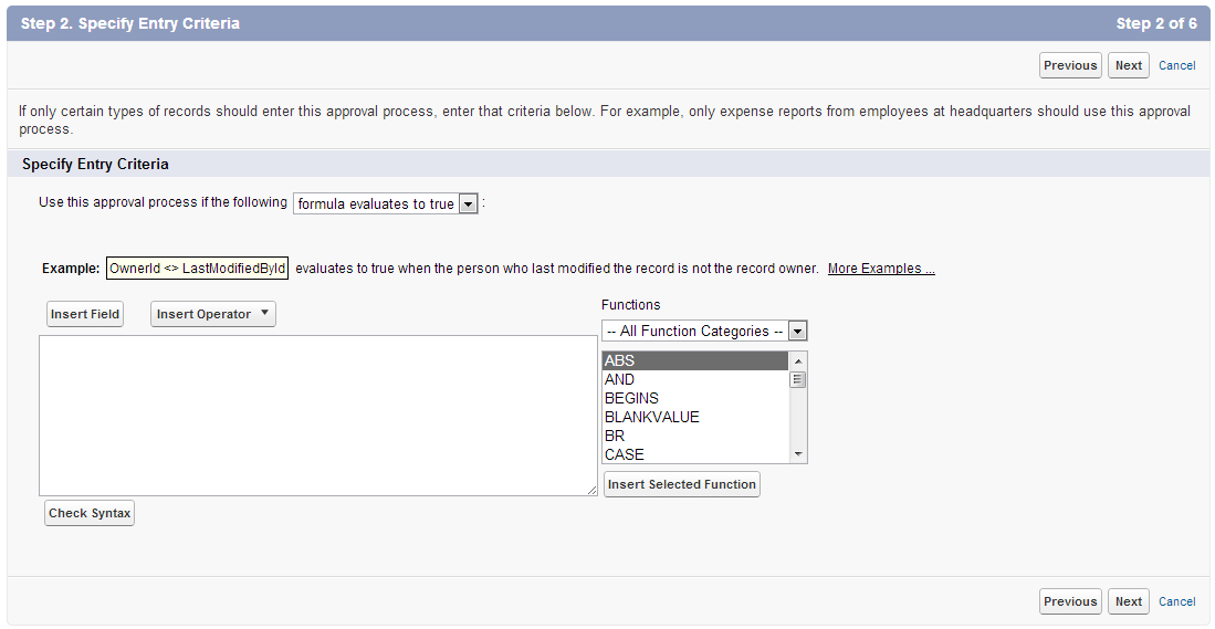 Salesforce approval process