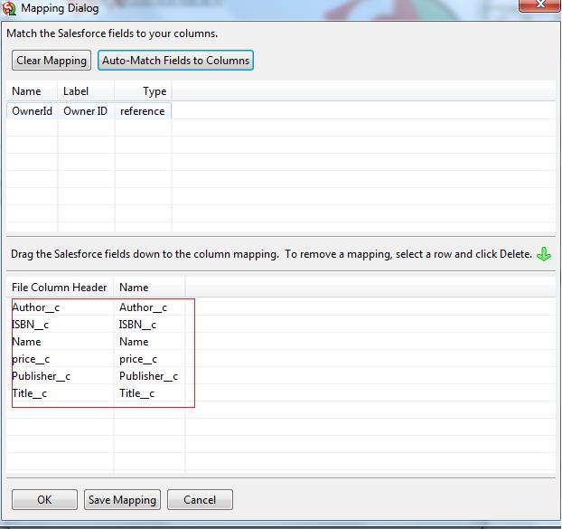 Salesforce dataloader