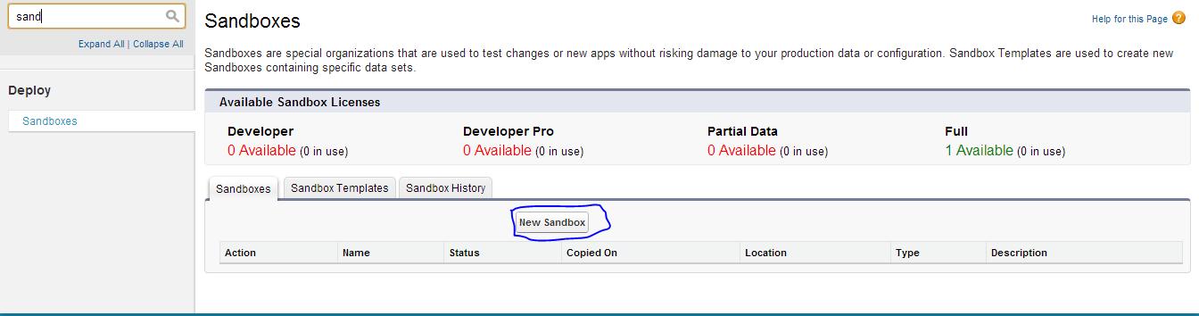 Creating Sandbox in Salesforce - Salesforce Tutorial