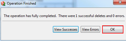 data loader delete operation9