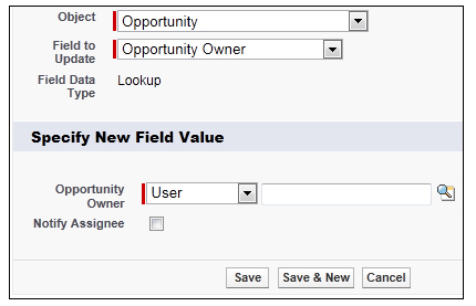 How to create field Updates for workflow rules and approval processes