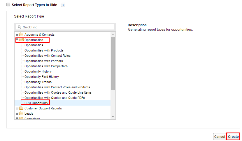 Creating custom reports in salesforce