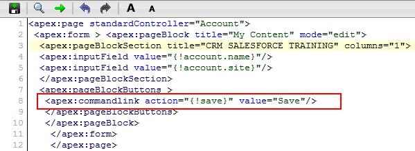 Visualforce apex:commandLink tag