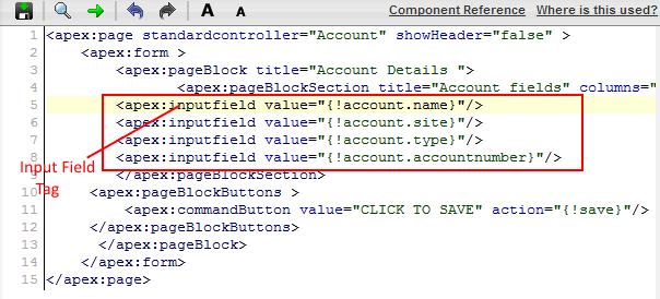 Visualforce inputfield tag
