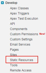 Creating Static Resources in Salesforce com - Visualforce