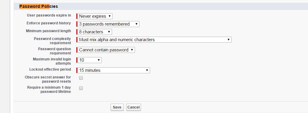 password policies