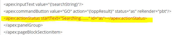 actionStatus tag in visualforce