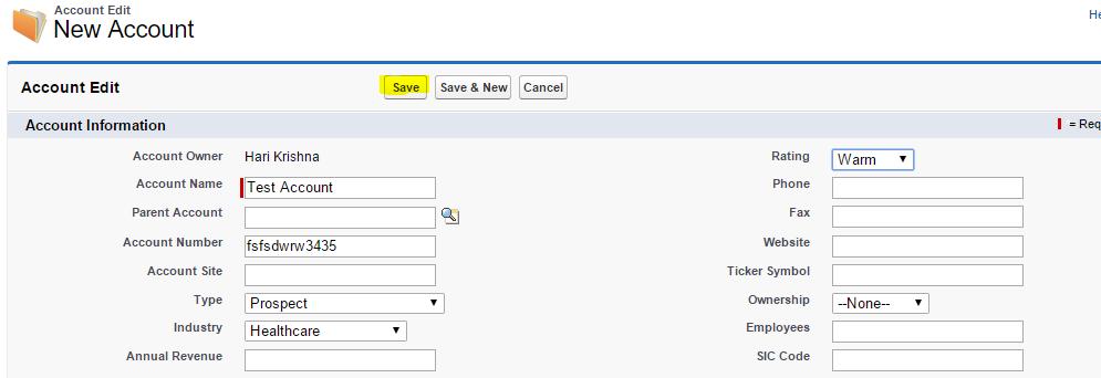 Salesforce Account