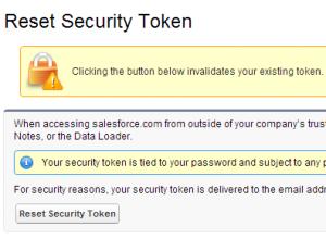 Security Tokens in Salesforce.com