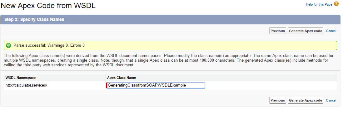 SOAP web service – Creating a class from WSDL - Salesforce