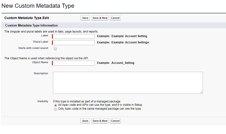 What is Custom Metadata type in salesforce? - Salesforce Tutorial